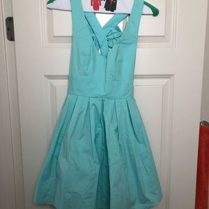 Turquoise dress from Xenia boutique